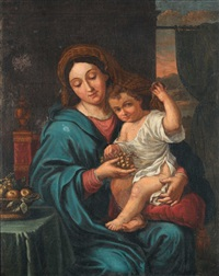 la vierge à la grappe by pierre mignard the elder