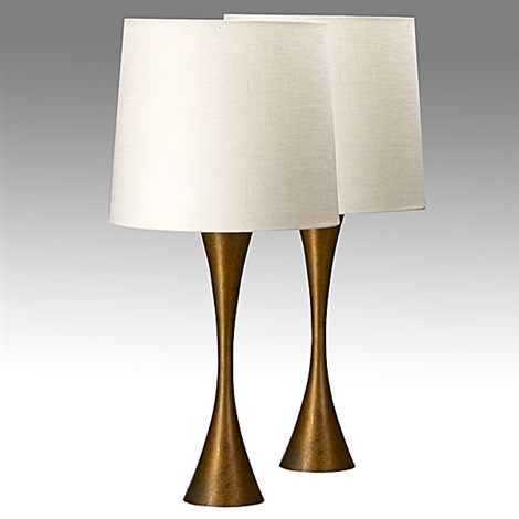 Lovely Table Lamps (pair)(attributed To Steward Ross) By Fritz Hansen