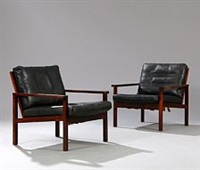 capella easy chairs (pair) by illum wikkelsø