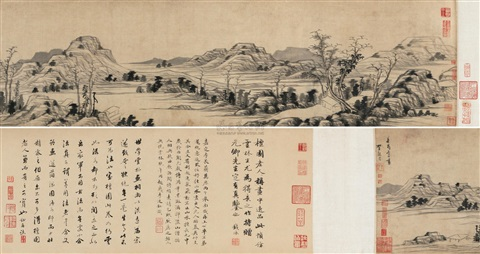 landscape after ni zan by li liufang