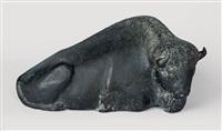liegender bison by reinhard dachlauer