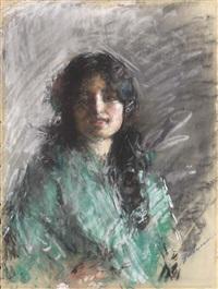 giovane donna by antonio mancini