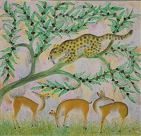 gazelles et panthères by mulongoy pili pili