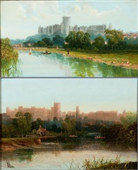 windsor castle from the thames (pair) by allan