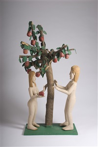 adam and eve in the garden of eden by saturnino portuondo (pucho) odio