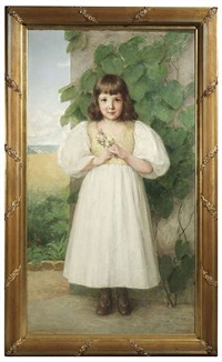 portrait der margarethe kröner im alter von sechs jahren by wilhelm auberlen