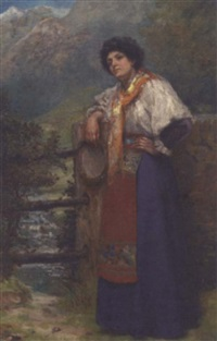 the tambourine girl by albert william holden
