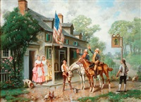 raising a toast to the flag by edward percy moran