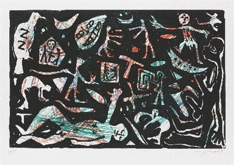 loch in der mauer by ar penck