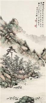 云溪草庐图 (landscape) by deng chunshu