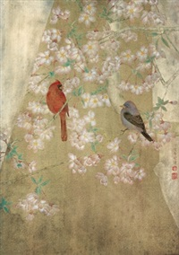 花鸟 (flowers and birds) by jiang hongwei