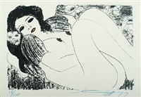 odalisque, erotic composition by walasse ting