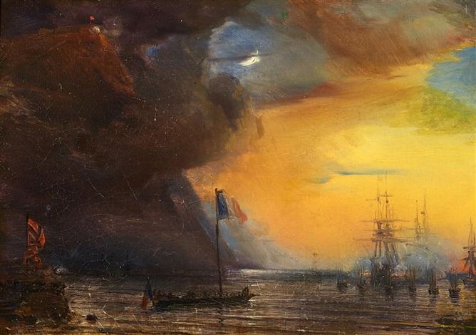 die französische flotte vor norwegen by baron jean antoine théodore gudin