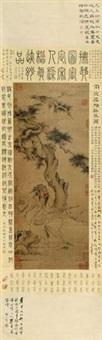 抚琴图 立轴 设色纸本 by liang kai