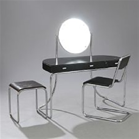 Groovy Art Deco Dressing Table Chair And Stool By Mart Stam On Artnet Bralicious Painted Fabric Chair Ideas Braliciousco