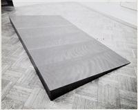 donald judd, untitled, perforated stell by rudy burckhardt