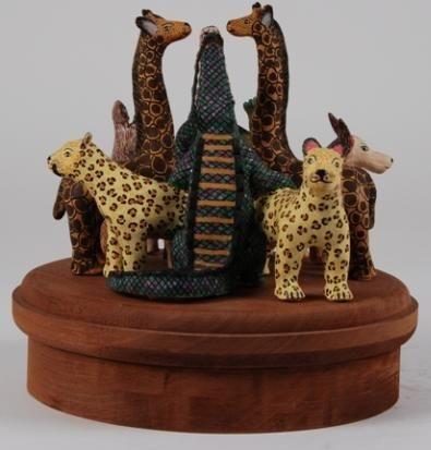 Animal Carousel Figural Group By Bonnie Ntshalintshali By