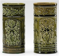 cylidrical vase (2 works) by chelsea keramic artworks