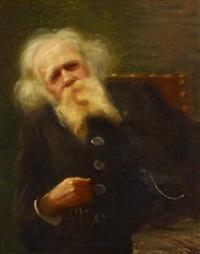 porträtbildnis eines bärtigen herrn by gerard ambroselli