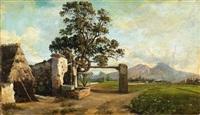paesaggio con casolari by michele cammarano
