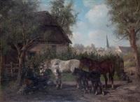pferdetränke by ludwig benno fay