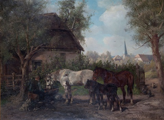 Pferdetränke by Ludwig Benno Fay on artnet