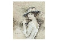 rose colored hat by bernard charoy