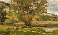 landschaftsstudie bei eysins by louis alexandre cabié