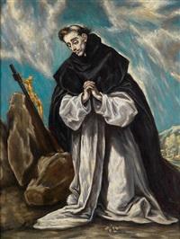 der heilige dominikus im gebet by el greco