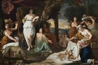diana und ihre nymphen nach der jagd by pierre monier