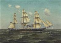 u.s. naval frigate by fritz müller