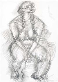figura seduta by cristoforo de amicis