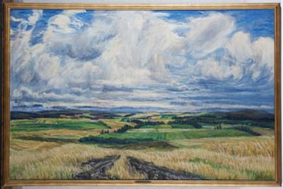 jutland landscape by knud agger