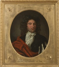 portrait of john wentworth, lieutenant governor of new hampshire by alfred everett smith