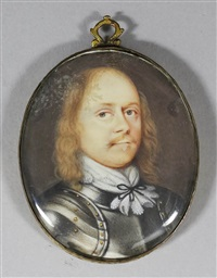 miniature shoulder length portrait of a gentleman wearing armour by david des granges