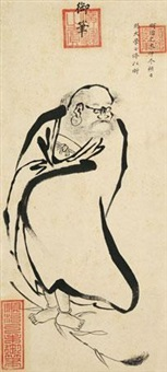 御笔《罗汉》 镜心 设色纸本 by emperor shunzhi