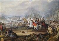 schlachtenszene aus den napoleonischen kriegen by johanes baptiste pflug