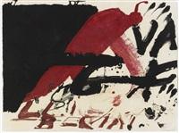 negre i roig: signes negres by antoni tàpies