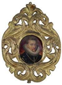bildnisse des statthalterpaares der spanischen niederlande erzherzog albrecht viii. (1559-1621) und erzherzogin isabella clara eugenia (1566-1633) (pair) by frans pourbus the younger