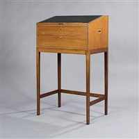 free-standing writing desk with two drawers by svend langkilde