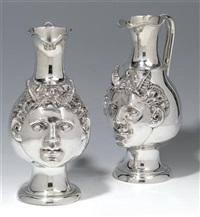 weinkannen mit satyrköpfen (pair) by james barclay hennell