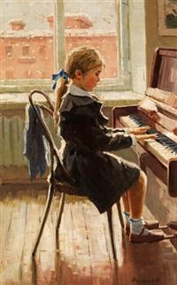 mädchen am klavier by pavlovitch fedor reschetnikov