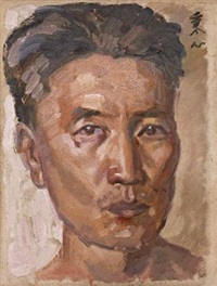 有所思(自画像) (self-portrait) by dai bingxin