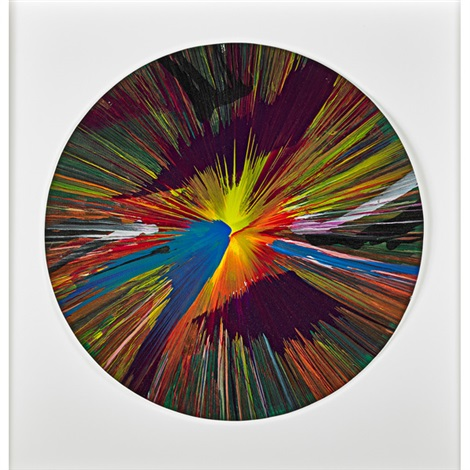 circle spin painting by damien hirst