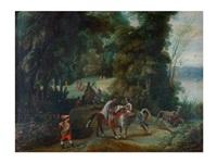 soldados en un paisaje by flemish school (17)