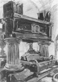 weinpresse 1668 kloster eberbach by marcus sendlinger