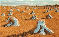 snow stooks, klein farm, cochrane by herbert otto sellin