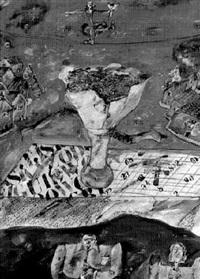 surrealistische komposition mit blumenstrauß by jan janczak