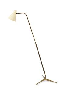 339 (variante) lampada da terra base e fusto telescopico by giuseppe ostuni