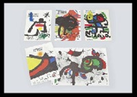 dlm 139 140 portfolio of 8 12 others 13 works by joan miró